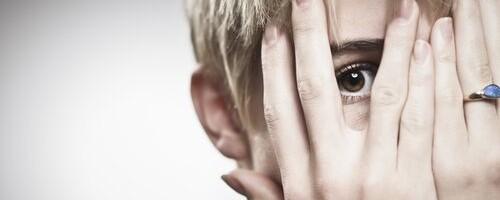 Woman thinking about declining fertility
