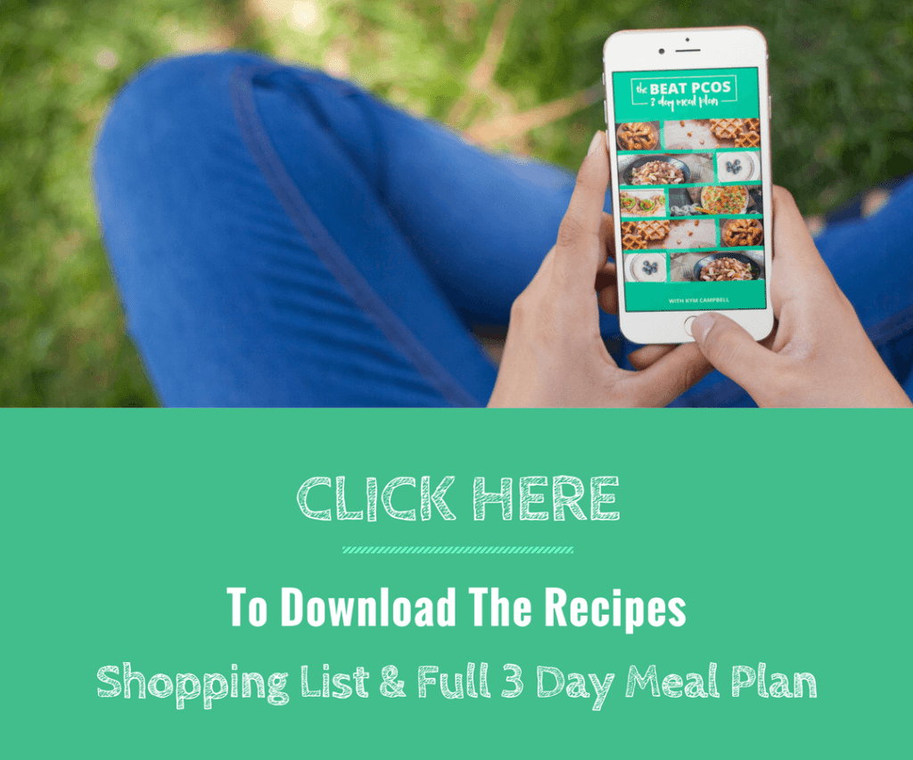 Free 3 Day PCOS Diet Meal Plan