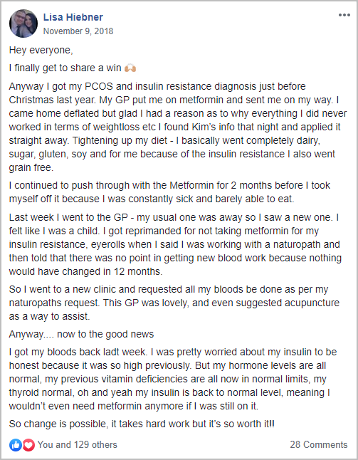 Lisa Hiebner PCOS Success Story