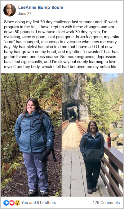 Leeanne Weight Loss PCOS Success Story
