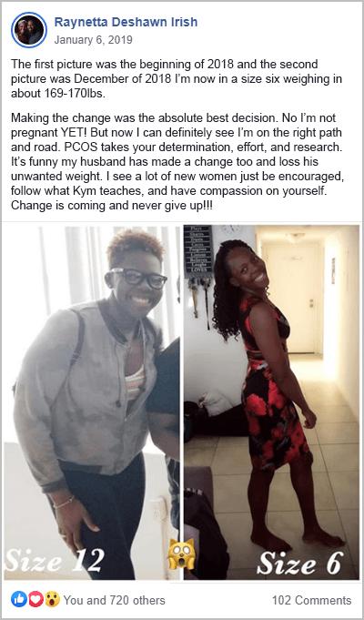 Raynetta Weight Loss PCOS Success Story
